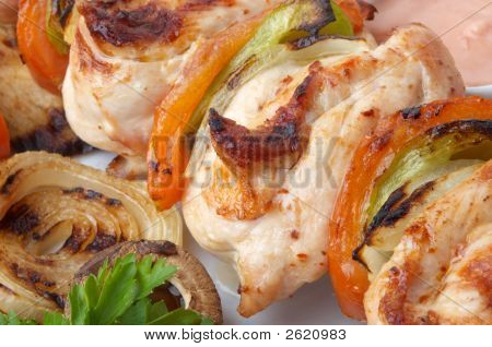 Chicken Kebab Closeup