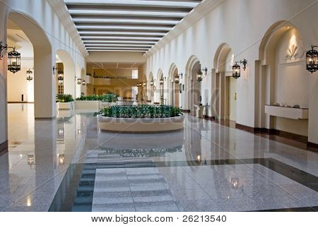 Conference center of an exclusive luxury resort hotel in the caribbean and cancun mexico