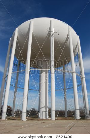 Full View Of Water Tower