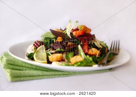 Mixed Salad Shot In High Depth Of Field