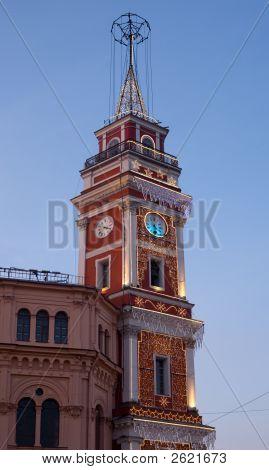The Decorated Duma Tower