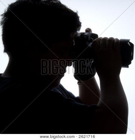 Photographer'S Silouhette - People Series