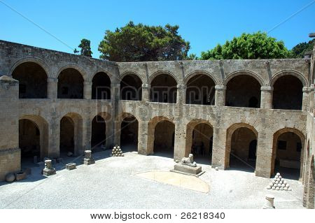 The hospital of the Knight of St. John of Jerusalem, Malta and Rhodes, the home of the Hospitlers