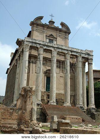 Basilica di Antonio & Faustina in the ancient roman forum, Rome, Italy