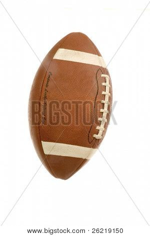 An American adaptation of the English rugby football isolated over a white background