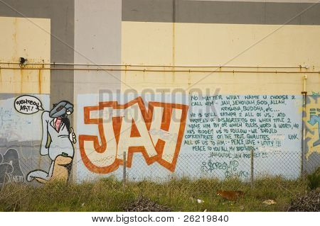 graffitti in New Zealand for Jah
