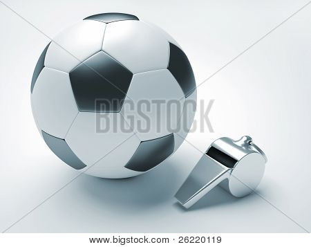 Football And Whistle