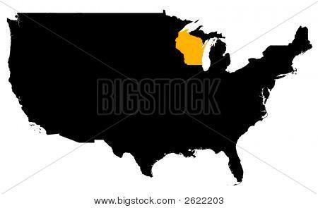Stadtplan von Wisconsin (Usa)