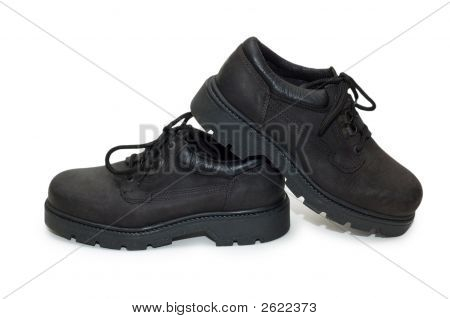 Heavy-Duty Shoe Isolated On The White Background