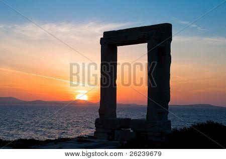 Apollo gate in Chora, Naxos island (Greece)