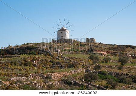Windmill in Paros island (Greece)