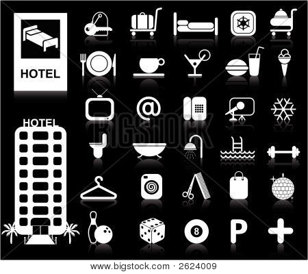 Vector Hotel Icons - White Series
