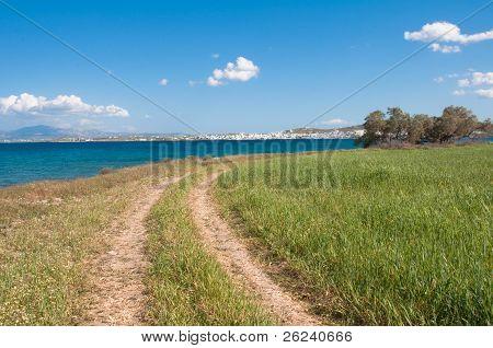 Track in Paros island, near Naoussa