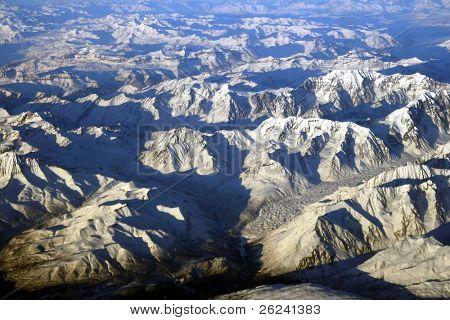 Aerial view of Alaska