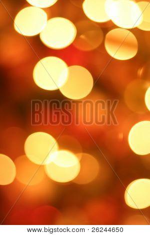 Golden Christmas light blur