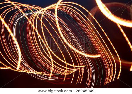 Large swirled light blur