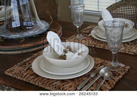 Casual tablesetting