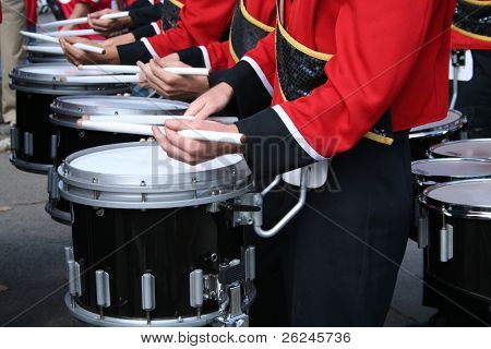 marching band drummers