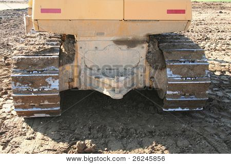 back end of a bulldozer