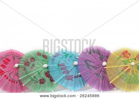party border with paper umbrellas