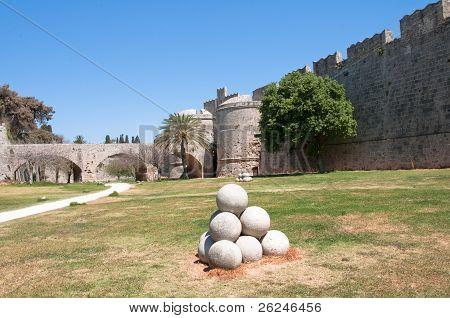 Rhodes wall, Greece
