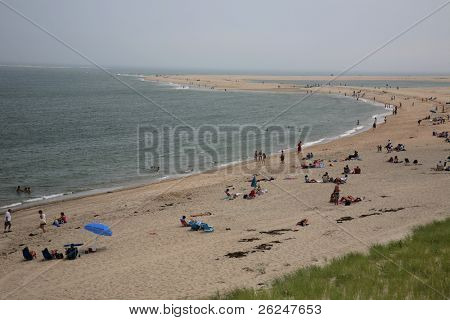 Vacationing on Nauset Beach in Chatham on Cape Cod