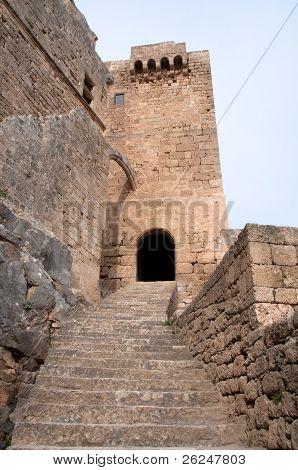 Castle of Lindos, Rhodes island (Greece)