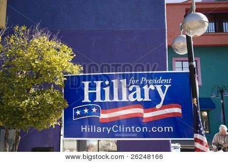 Election sign for Hillary Clinton