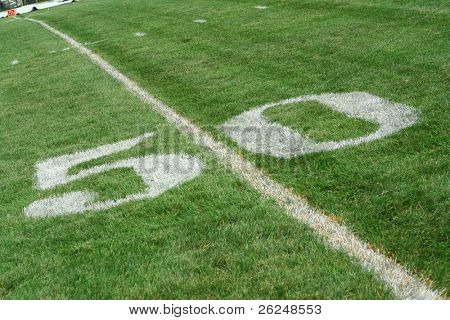 mid field on a football field
