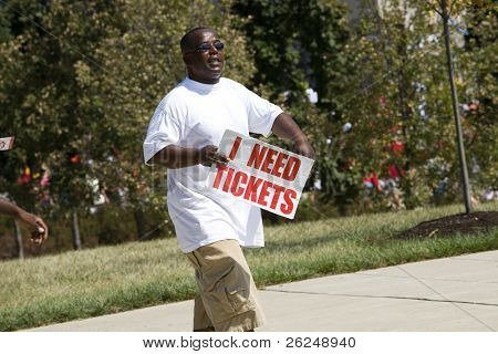 Columbus, Ohio-August 28, 2008:  Ticket scalpers were busy at the Ohio State football opener
