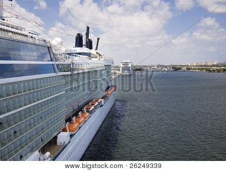 Cruise ship docked in Ft. Lauderdale