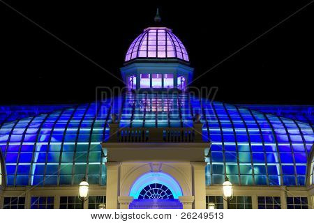 Franklin Park Conservatory in Columbus, Ohio at night