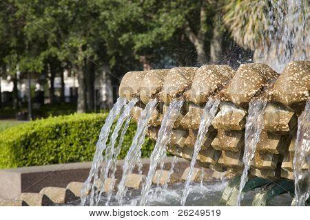 Famosa fuente de piña en WAterfront Park en Charleston, Carolina del sur