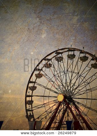 Vintage ferris wheel at the Ohio State Fair