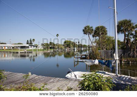 Canal in Cocoa Beach Florida