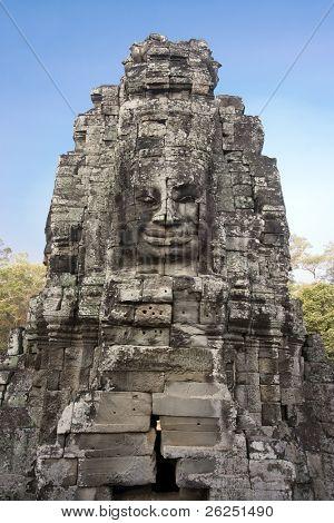 Four-faces Vishnu in Bayon temple in Angkor Thom