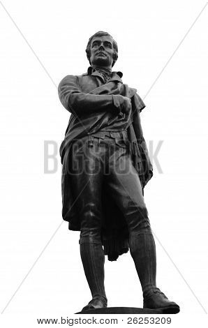 Robert Burns Statue (1759-1796), Edinburgh, Scotland