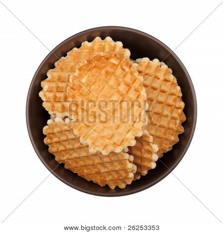 Waffles In The Bowl, Top View