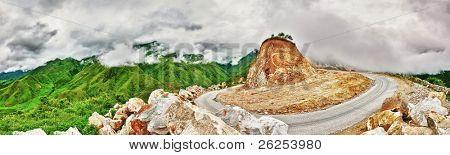 Mountain pass. The incredible road between Sapa and Lai Chau