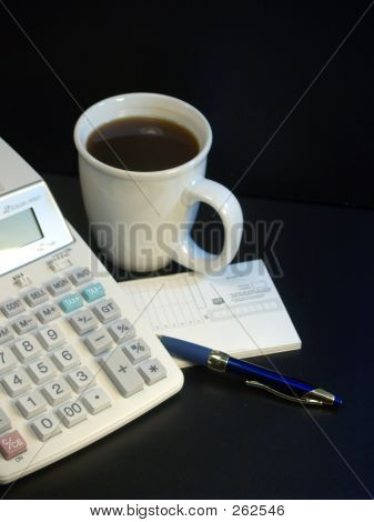Calculator And Coffee Cup 4