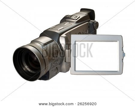digital camcorder with empty frame on the screen, ready for your picture