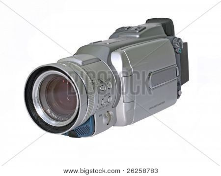 digital video camcorder isolated on white