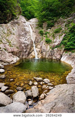 Famous Biryong Waterfall at Seoraksan National Park, South korea