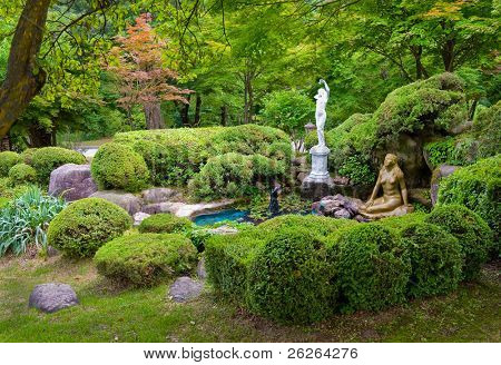 landscape outdoor garden design at Sokcho, Korea