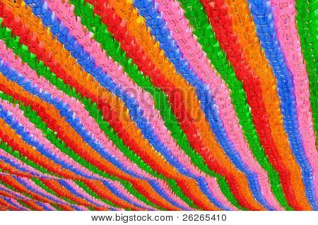 Colorful lanterns background at buddhist temple Seoul Korea