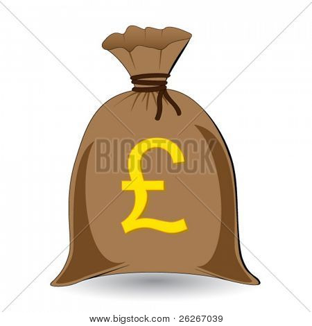 vector of full money sack of pounds
