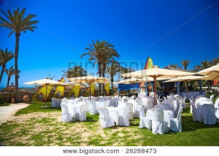 banquet at the sea, Djerba, Tunisia