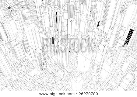 Architectural Drawing Of City