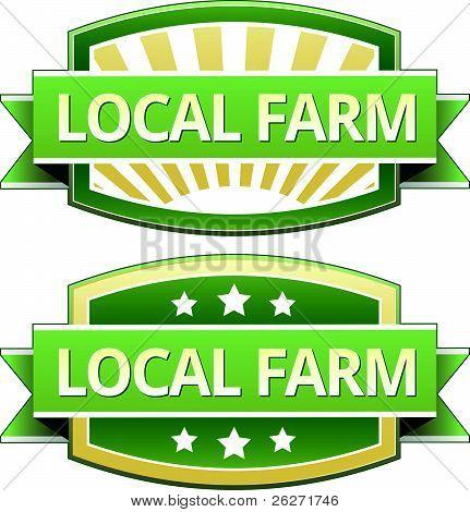 Local farm food label