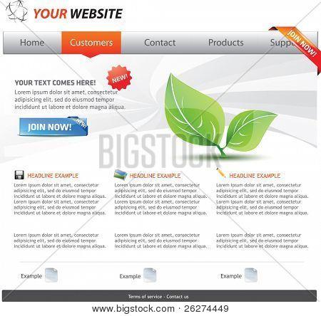Web 2.0 template